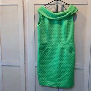 David Meister retro style green off the shoulder
